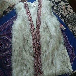☆Boho Chic Faux Fur Vest☆